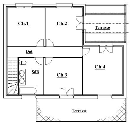 Plan maison etage 4 chambres plan etage maison maison - Plan maison etage 4 chambres gratuit ...