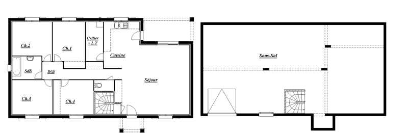 Tradybel constructeur de maisons individuels visite virtuel for Chambre sans fenetre surface habitable